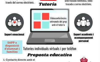 Tutories individuals virtuals i per telèfon